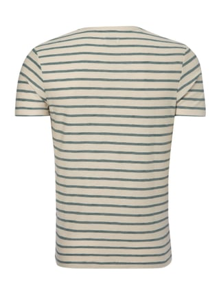 Selected Homme T-Shirt mit Streifenmuster Mint - 1
