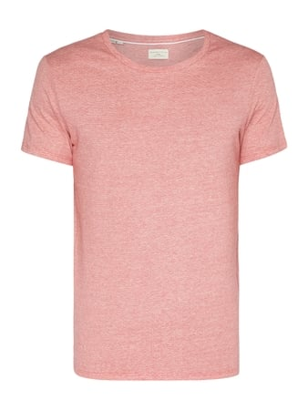 Selected Homme T-Shirt mit Webmuster Rot - 1