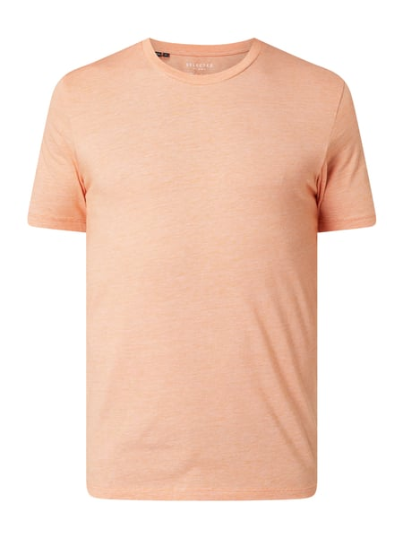 Selected Homme T-Shirt Modell 'The Perfect Tee' - 'Better Cotton Initiative' Orange - 1