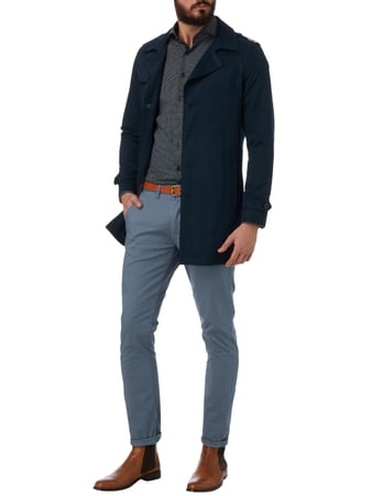 Selected Homme Trenchcoat mit Reverskragen in Blau / Türkis - 1