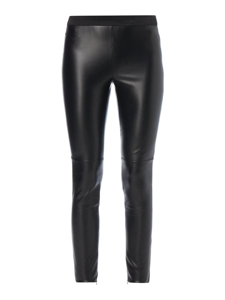 Set Leggings in Lederoptik Schwarz