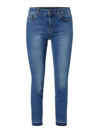 Stone Washed Ankle Cut Jeans Blau / Türkis - 1