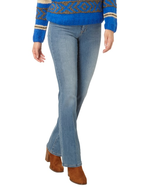 Set Stone Washed Flared Cut Jeans Hellblau - 1