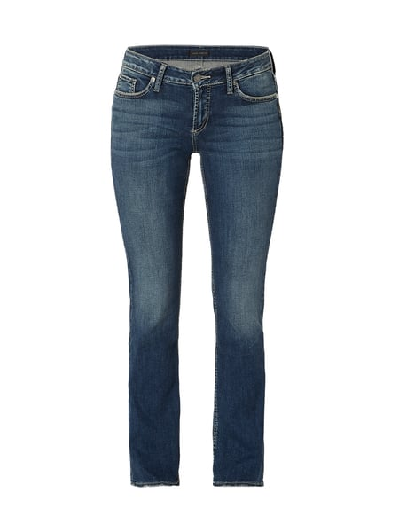 Silver Jeans Bootcut Jeans im Used Look Blau - 1