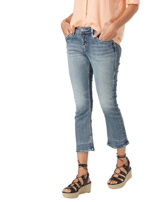 Silver Jeans Cropped Jeans im Used Look Jeans - 1