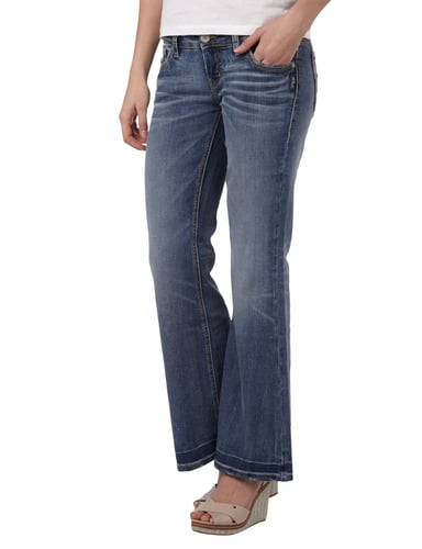 Silver Jeans Double Stone Washed Flared Cut Jeans Blau - 1