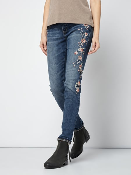 silver jeans skinny fit jeans im used look in blau t rkis online kaufen 9767811 p c online. Black Bedroom Furniture Sets. Home Design Ideas