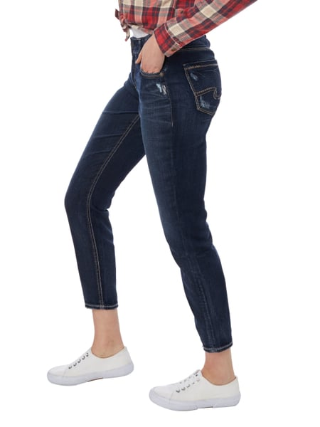 silver jeans skinny fit jeans im used look in blau t rkis online kaufen 9767812 p c online. Black Bedroom Furniture Sets. Home Design Ideas