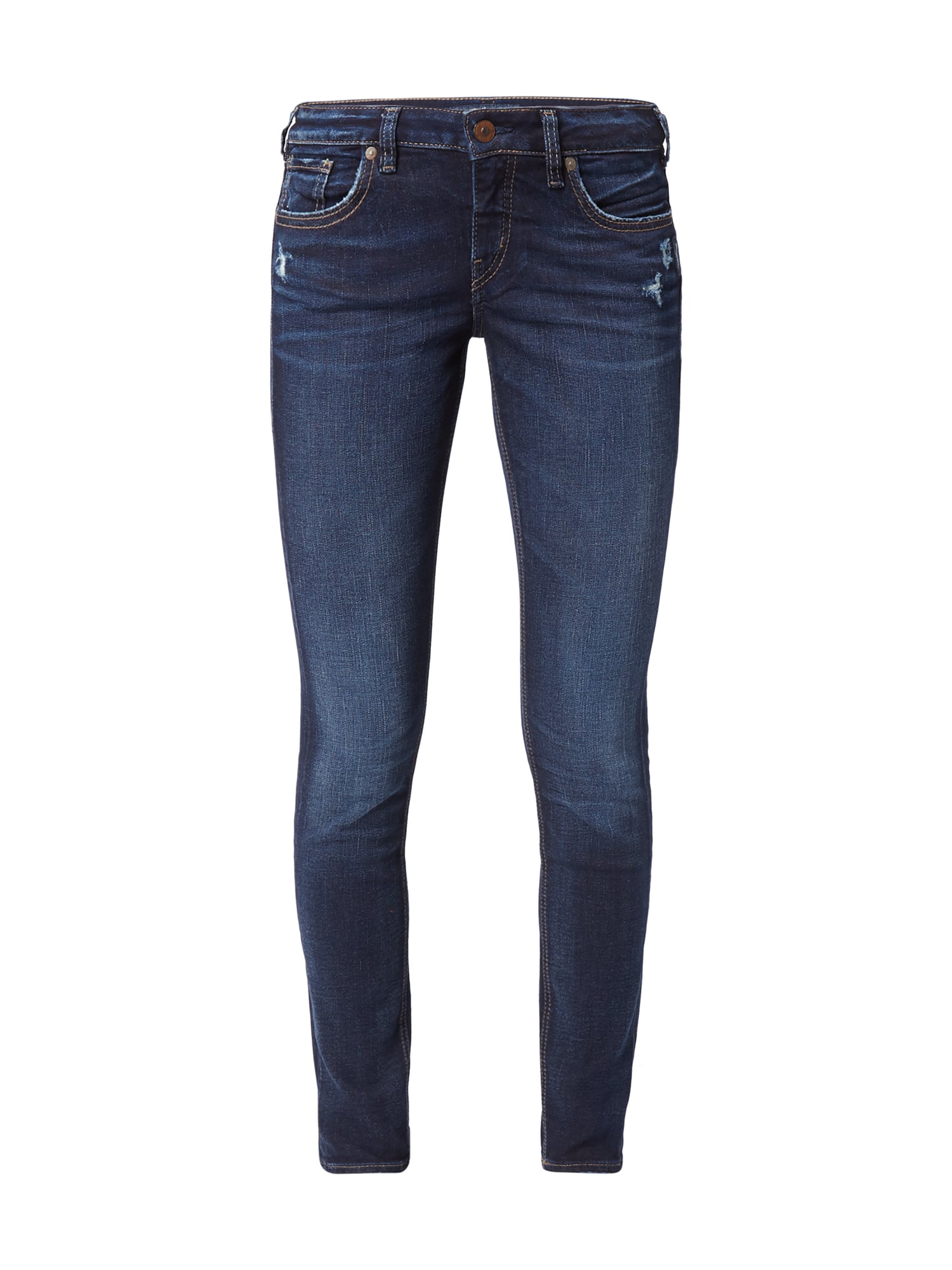 silver jeans skinny fit jeans im used look in blau t rkis online kaufen 9767815 p c online. Black Bedroom Furniture Sets. Home Design Ideas