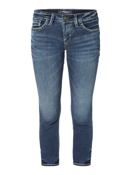 silver jeans stone washed cropped skinny fit jeans in blau t rkis online kaufen 9776475 p c. Black Bedroom Furniture Sets. Home Design Ideas
