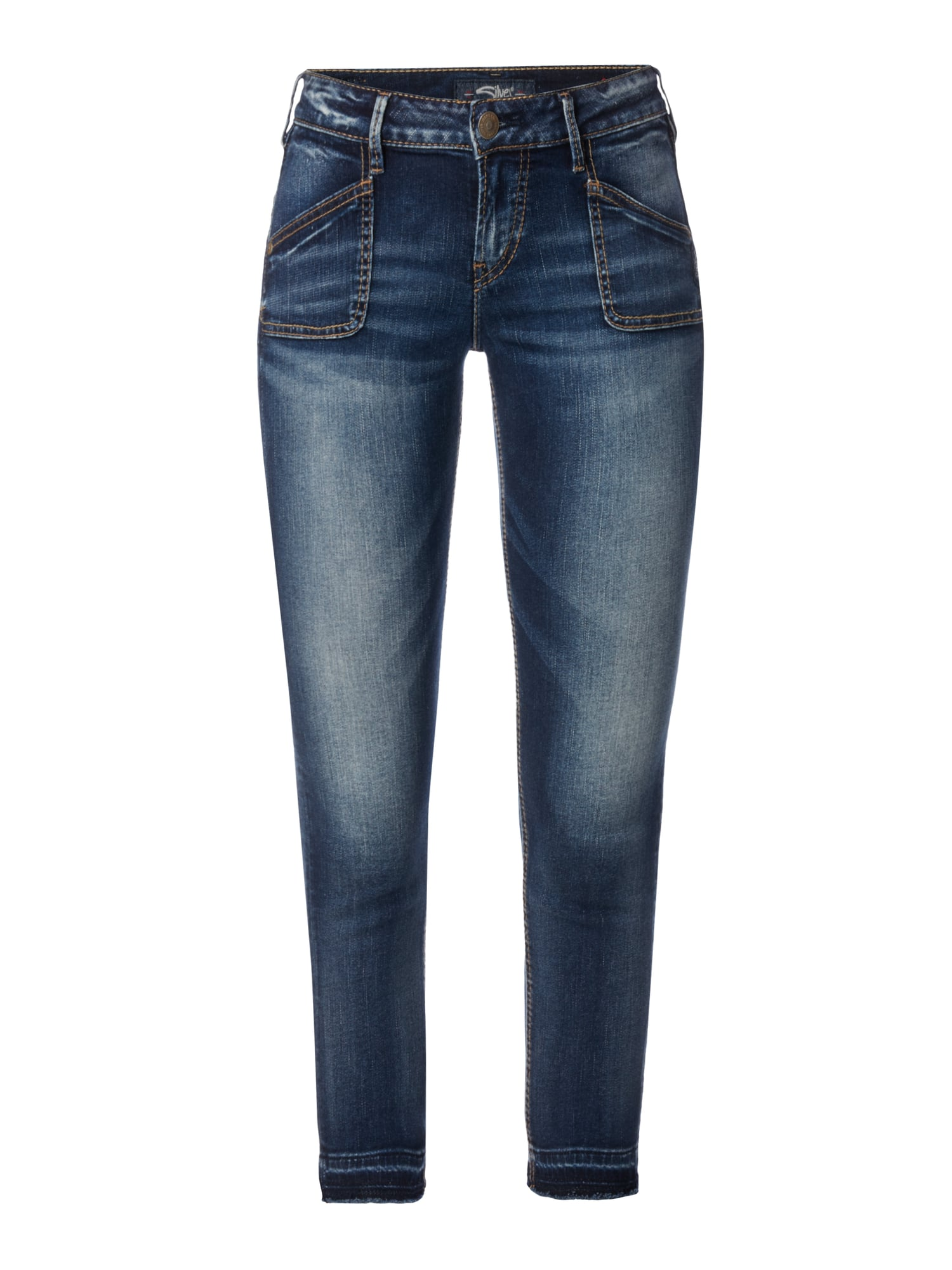 silver jeans stone washed skinny fit jeans in blau t rkis online kaufen 9607348 p c online. Black Bedroom Furniture Sets. Home Design Ideas