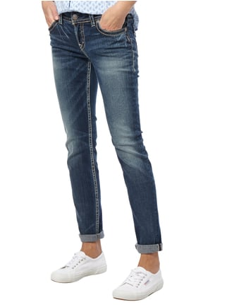 Silver Jeans Stone Washed Skinny Fit Jeans mit Pattentaschen Jeans - 1