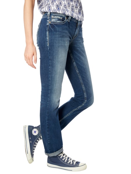silver jeans straight fit jeans im used look in blau t rkis online kaufen 9607356 p c online. Black Bedroom Furniture Sets. Home Design Ideas