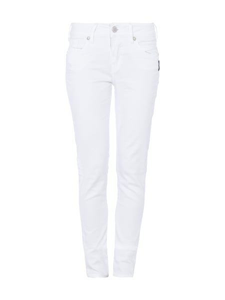 Suki Mid Skinny - 5-Pocket-Jeans im Used Look Weiß - 1