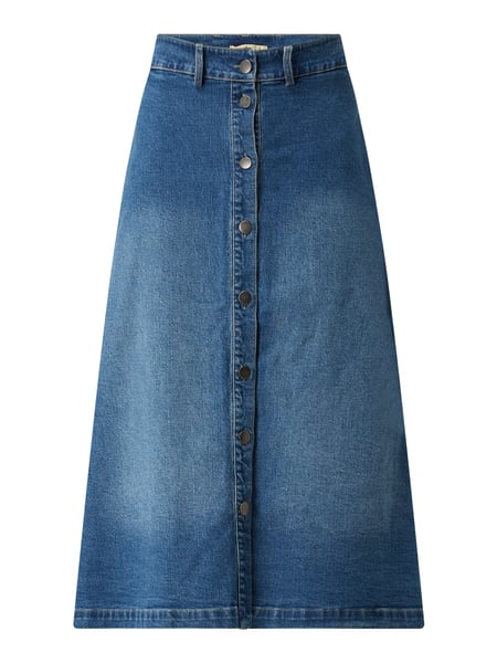 Smith and Soul Midirock aus Denim Blau - 1