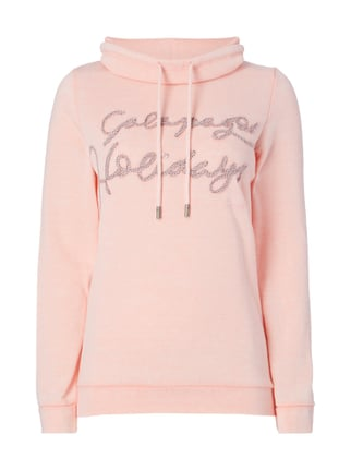 Sweatshirt im Washed Out Look Rosé - 1