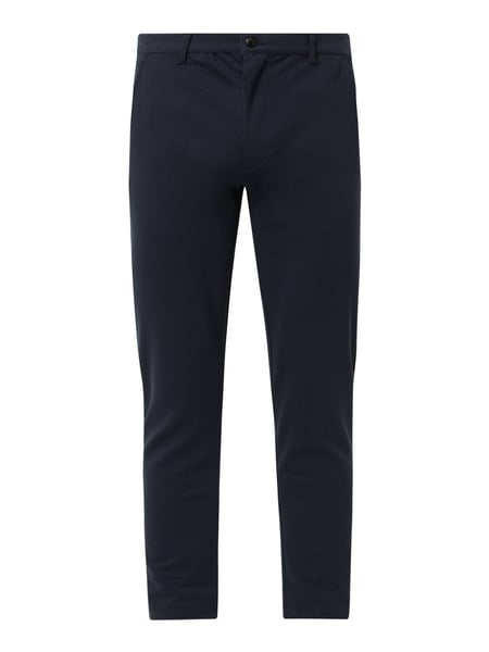 !Solid Skinny fit chino met stretch Blauw - 1