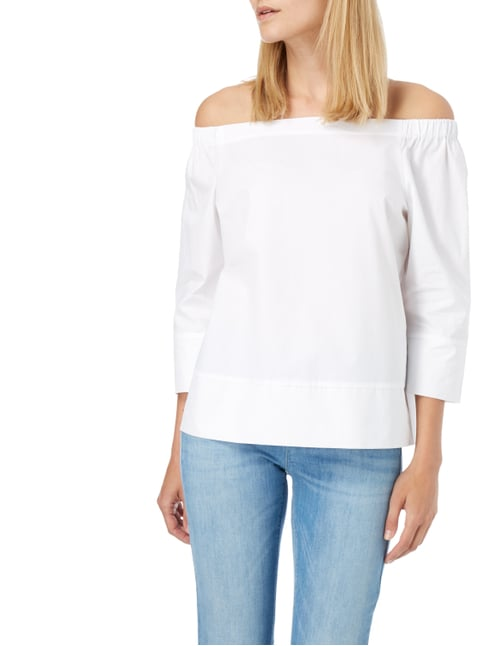 Someday Off Shoulder Blusenshirt aus Baumwolle Weiß - 1