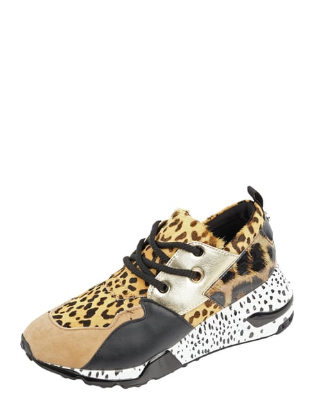 the best attitude f3f62 8f856 Steve Madden – Sneaker 'Cliff' aus Veloursleder mit Animal-Print – Beige