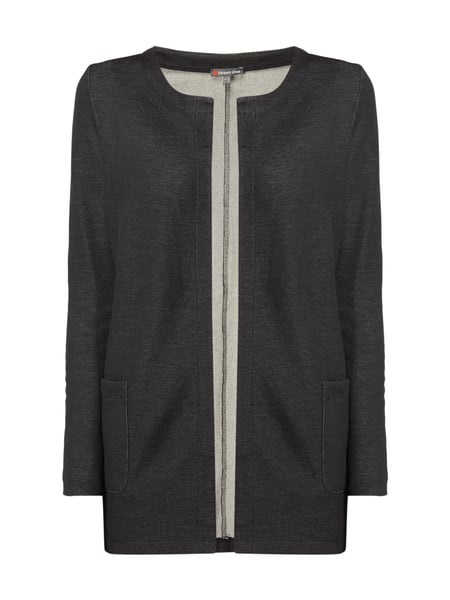 Street One Cardigan aus Sweat Schwarz