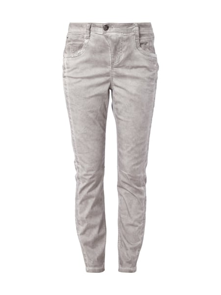 fb621a05c6a4 STREET-ONE Casual Fit Hose im Washed Out-Look in Grau   Schwarz ...