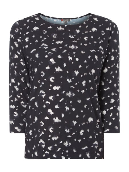 Street One Shirt mit Allover-Muster Graphit