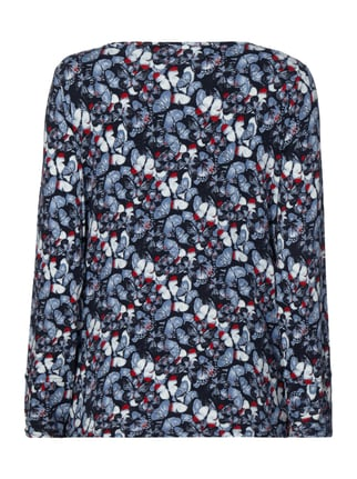 Street One Shirt mit Schmetterlings-Print Hellblau - 1