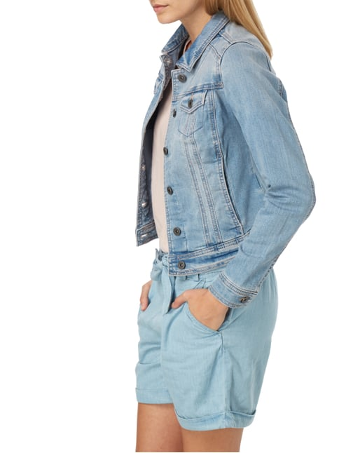 Street One Stone Washed Jeansjacke mit Stretch-Anteil Jeans - 1