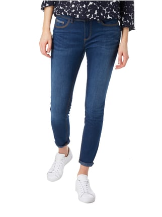 Street One Stone Washed Slim Fit Jeans Dunkelblau - 1