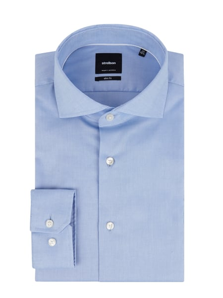 Strellson Slim Fit Business-Hemd mit Kentkragen Blau / Türkis - 1