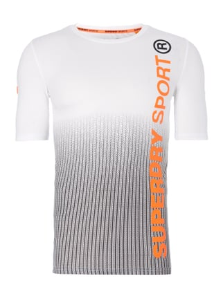 Athletic Fit T-Shirt mit Print Orange - 1