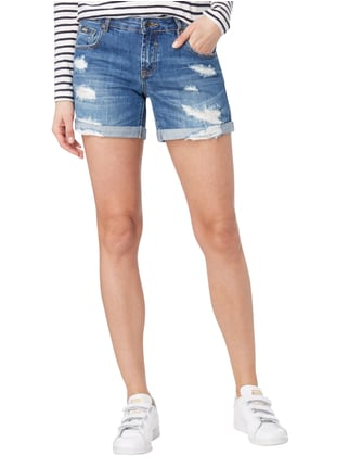 Superdry Boyfriend Fit Jeansshorts im Destroyed Look Jeans - 1