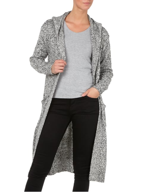 Superdry Cardigan mit Kapuze Offwhite meliert - 1