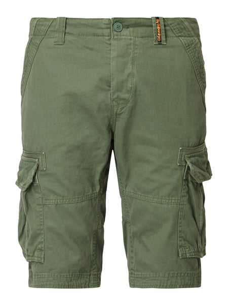 Superdry Cargo Light Shor - Cargobermudas im Washed Out Look Olivgrün