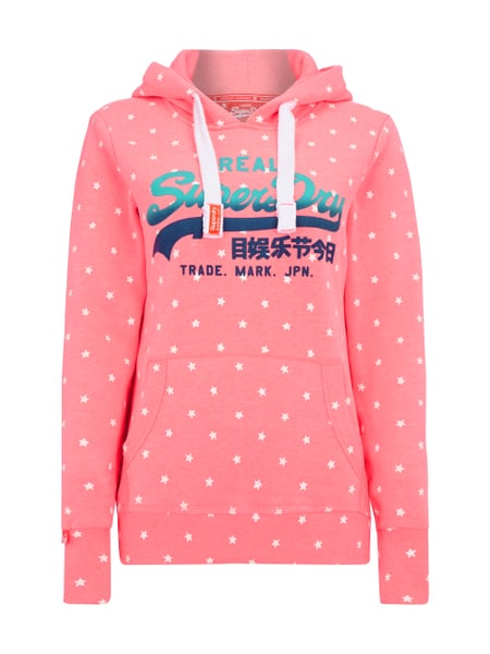separation shoes d4bf5 adc45 SUPERDRY Hoodie mit All-Over-Muster in Rosé online kaufen ...