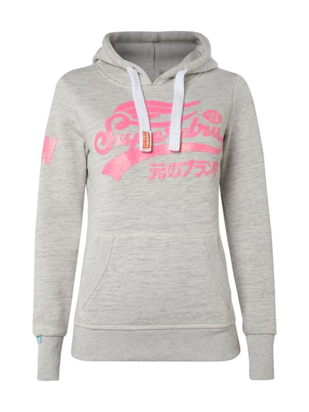 factory authentic 2d3ff 389d8 SUPERDRY Hoodie mit Glitter-Effekt und Logo-Print in Grau ...