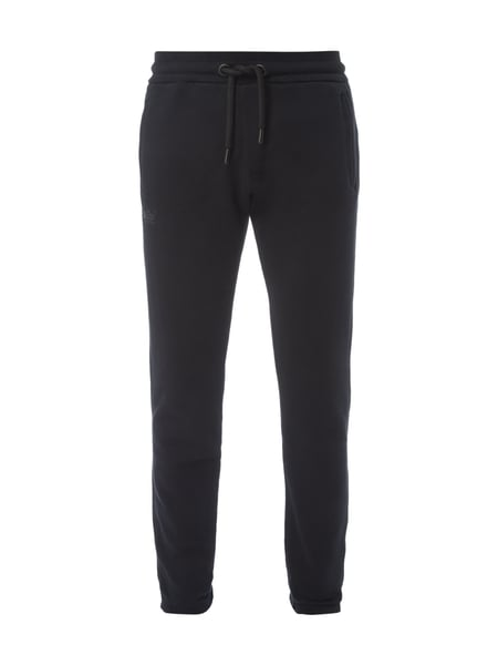 Superdry O L Urban Flash - Slim Fit Sweatpants mit Logo-Applikationen Schwarz