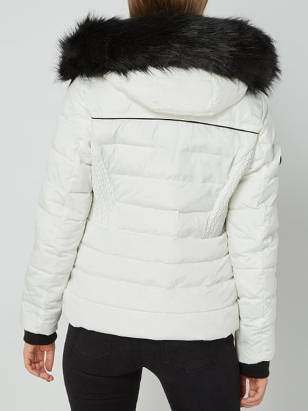 huge selection of 0e295 1dae5 Superdry – Steppjacke mit Kapuze - wattiert – Weiß