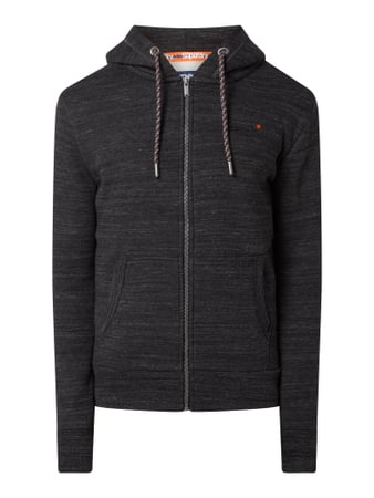 Superdry Sweatjacke in Melange-Optik Schwarz - 1