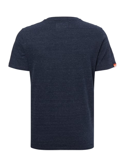 Superdry T-Shirt mit Logo-Stickerei Marineblau meliert - 1