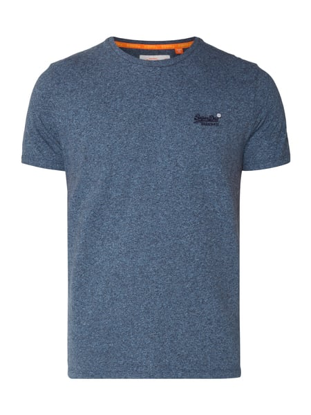 Superdry Orange Lable Vin - T-Shirt mit Logo-Stickerei Marineblau meliert