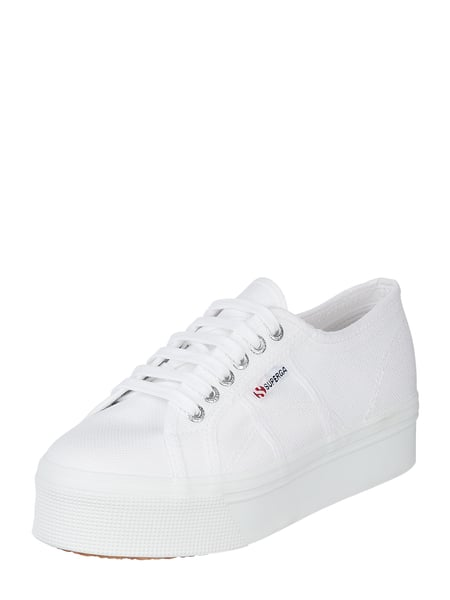 new product 70ee9 104ed Superga – Plateau-Sneaker '2790' aus Canvas – Weiß