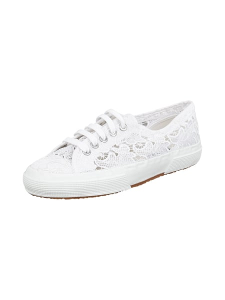 finest selection 5def1 3101d SUPERGA Sneakers aus transparenter Spitze in Weiß online ...
