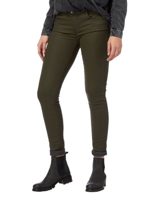 Supertrash Coated Skinny Fit 5-Pocket-Hose Khaki - 1