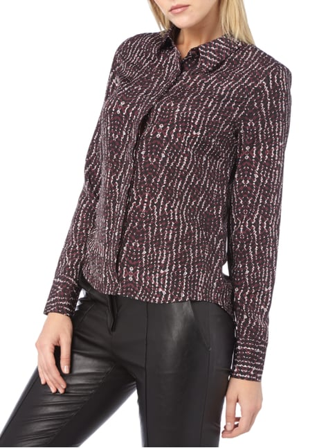 Supertrash Hemdbluse mit Allover-Muster Bordeaux Rot - 1