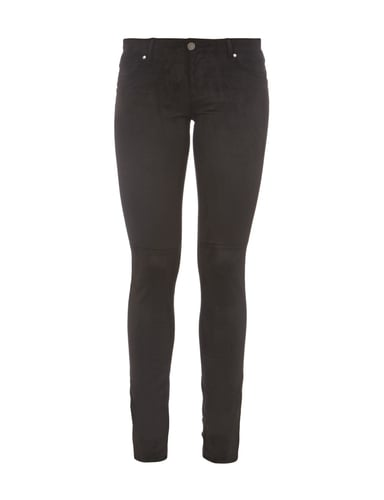 Jeggings in Velourslederoptik Grau / Schwarz - 1