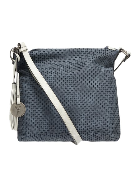 SURI FREY Crossbody Bag mit perforiertem Muster Marineblau