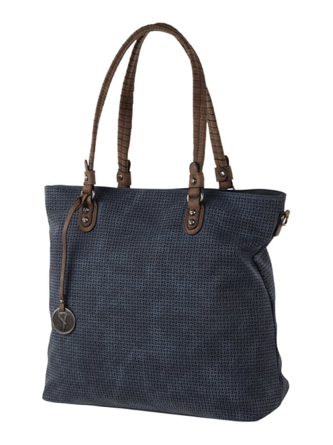 Shopper mit Perforationen Blau / Türkis - 1