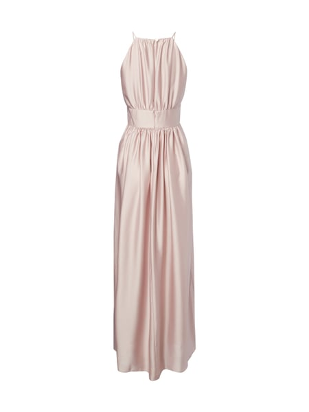 Swing abendkleid aus satin rose