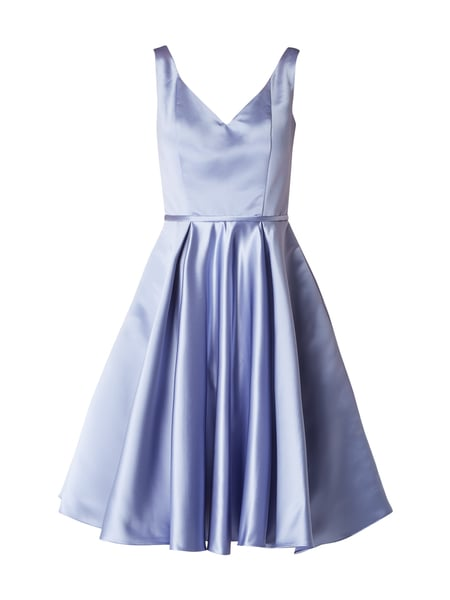Swing Cocktailkleid aus Satin Lavendel